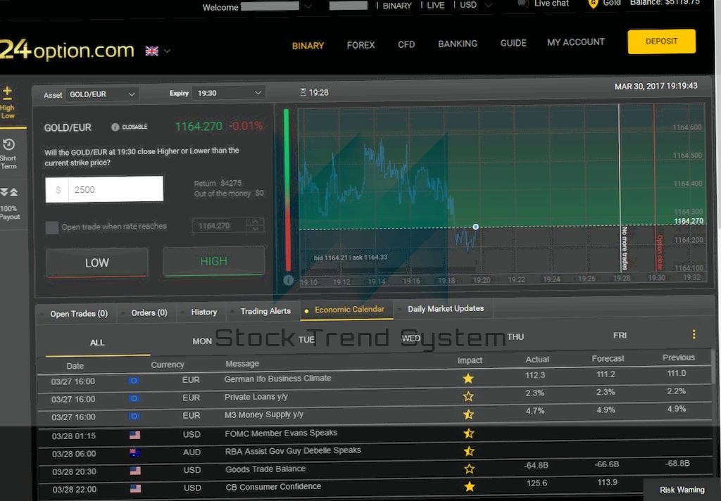 Daily Options Trading Charts